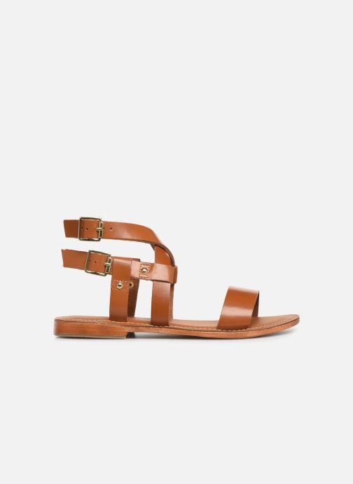 Sandals L'Atelier Tropézien SH604 Brown back view