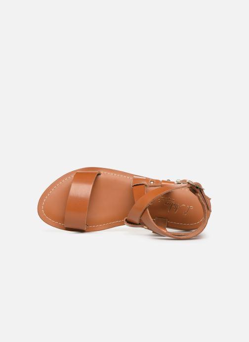 Sandalen L'Atelier Tropézien SH604 braun ansicht von links
