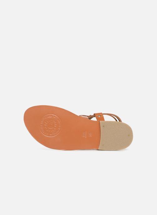 Sandales et nu-pieds L'Atelier Tropézien SH604 Marron vue haut