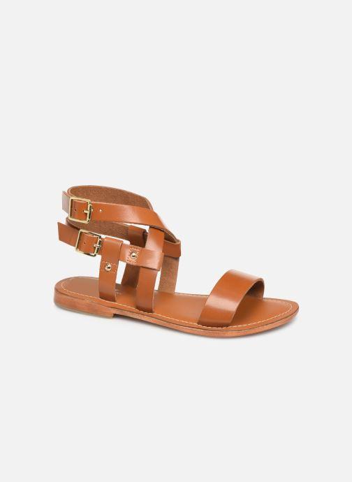 Sandals L'Atelier Tropézien SH604 Brown detailed view/ Pair view