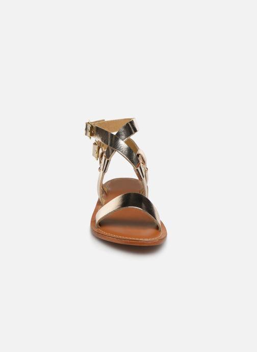 Sandales et nu-pieds L'Atelier Tropézien SH604 Or et bronze vue portées chaussures