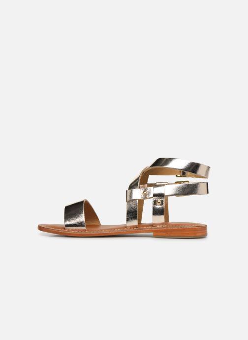 Sandales et nu-pieds L'Atelier Tropézien SH604 Or et bronze vue face