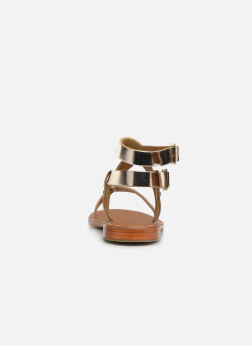 Sandales et nu-pieds L'Atelier Tropézien SH604 Or et bronze vue droite
