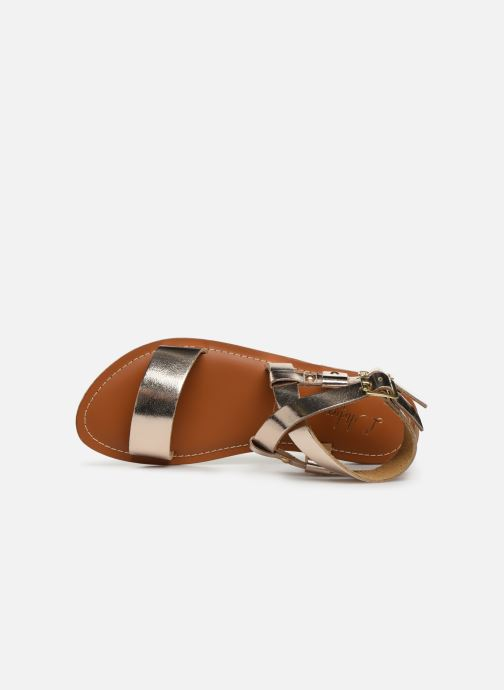 Sandales et nu-pieds L'Atelier Tropézien SH604 Or et bronze vue gauche