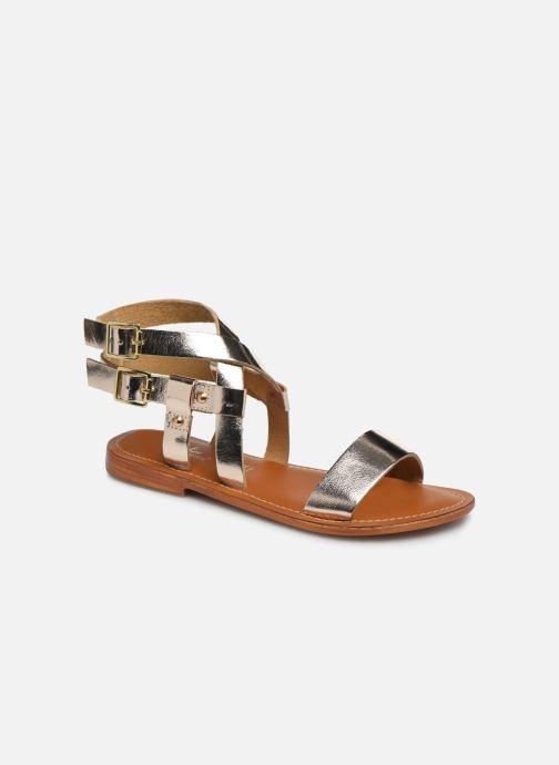 Sandales et nu-pieds L'Atelier Tropézien SH604 Or et bronze vue détail/paire
