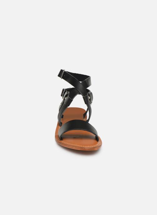 Sandales et nu-pieds L'Atelier Tropézien SH604 Noir vue portées chaussures