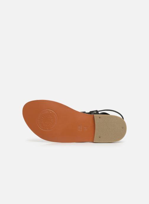 Sandales et nu-pieds L'Atelier Tropézien SH604 Noir vue haut