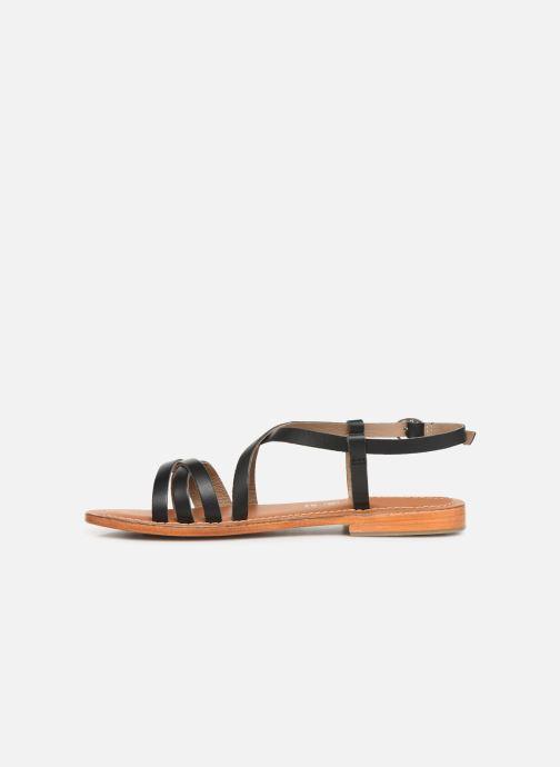 Sandals L'Atelier Tropézien SH653 Black front view