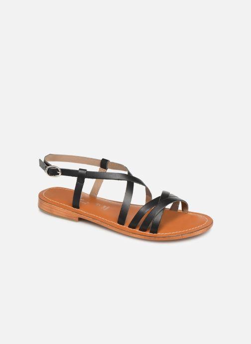 Sandales et nu-pieds L'Atelier Tropézien SH653 Noir vue détail/paire