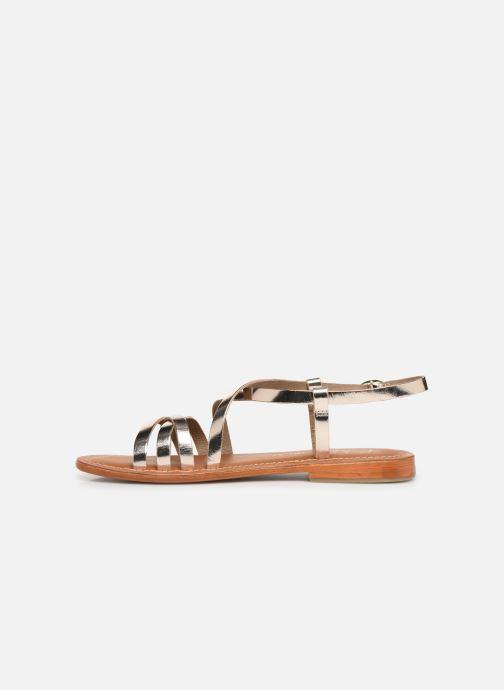 Sandals L'Atelier Tropézien SH653 Bronze and Gold front view