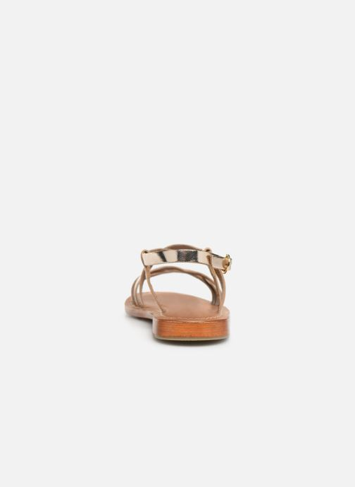 Sandals L'Atelier Tropézien SH653 Bronze and Gold view from the right