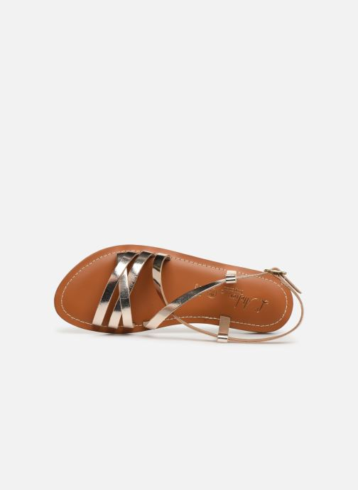 Sandals L'Atelier Tropézien SH653 Bronze and Gold view from the left