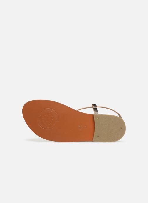 Sandales et nu-pieds L'Atelier Tropézien SH653 Or et bronze vue haut