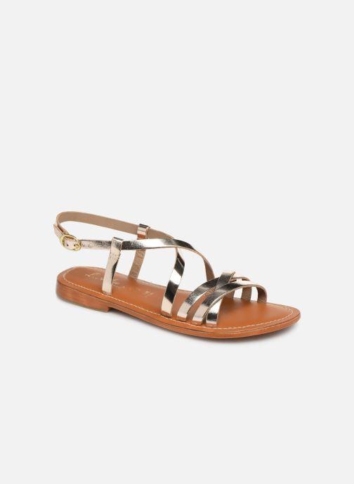 Sandals L'Atelier Tropézien SH653 Bronze and Gold detailed view/ Pair view
