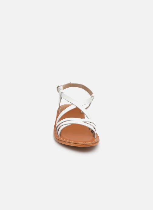 Sandales et nu-pieds L'Atelier Tropézien SH653 Blanc vue portées chaussures