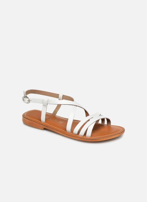 Sandals L'Atelier Tropézien SH653 White detailed view/ Pair view