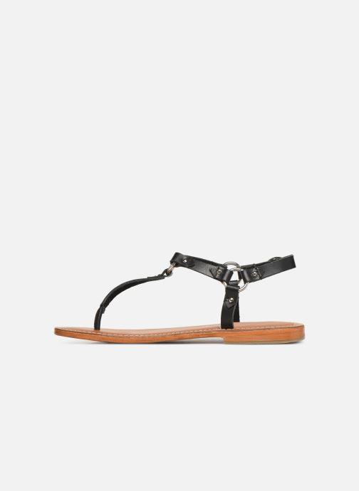 Sandals L'Atelier Tropézien SH652 Black front view