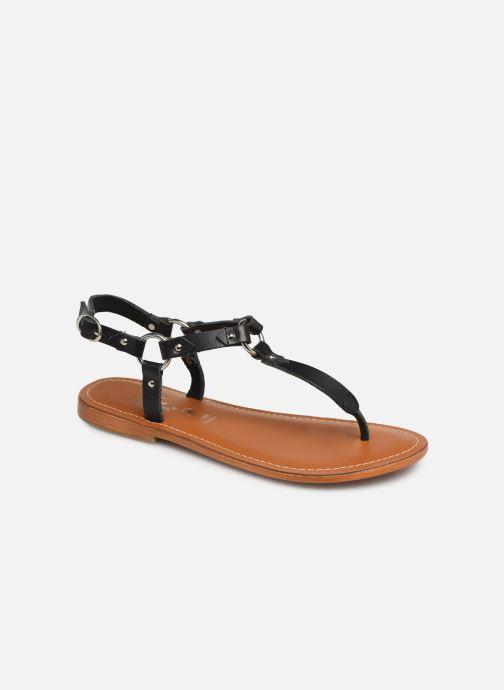 Sandals L'Atelier Tropézien SH652 Black detailed view/ Pair view