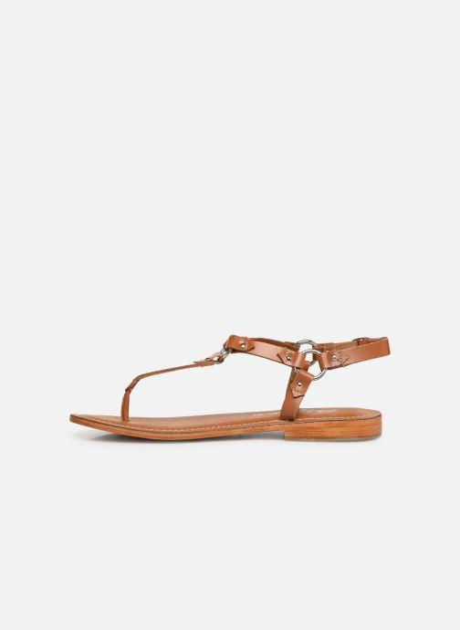 Sandales et nu-pieds L'Atelier Tropézien SH652 Marron vue face