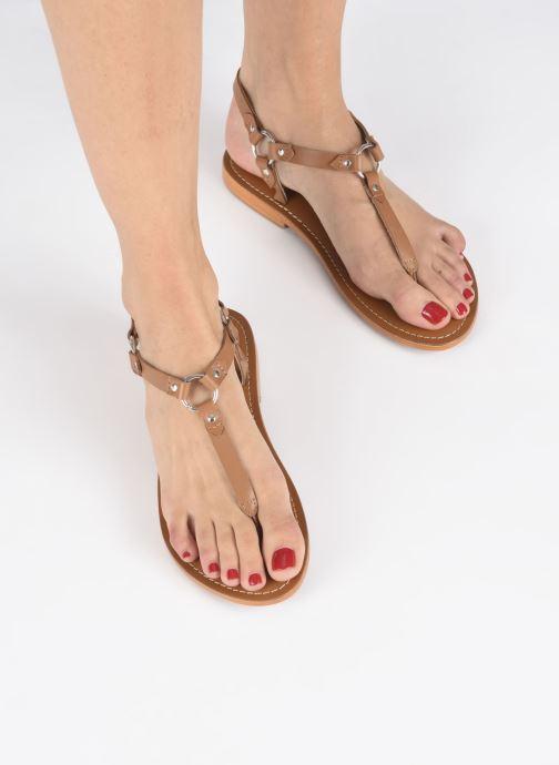 Sandales et nu-pieds L'Atelier Tropézien SH652 Marron vue bas / vue portée sac