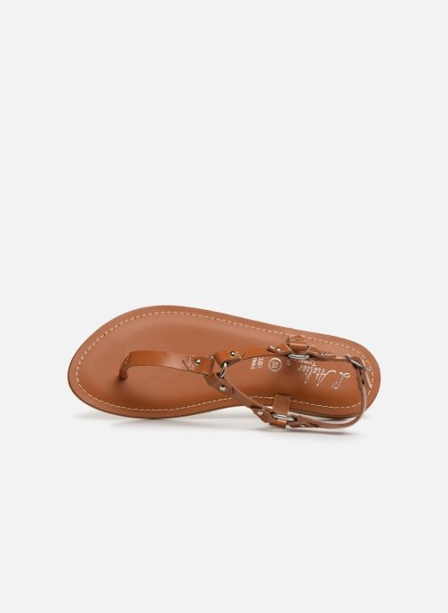 Sandali e scarpe aperte L'Atelier Tropézien SH652 Marrone immagine sinistra