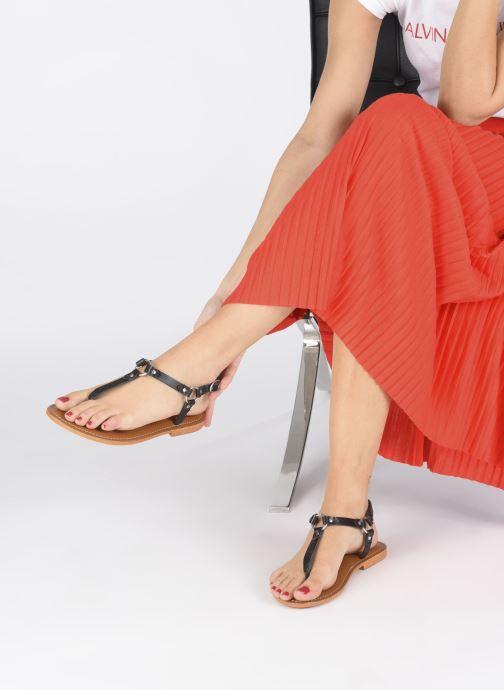 Sandales et nu-pieds L'Atelier Tropézien SH652 Noir vue bas / vue portée sac