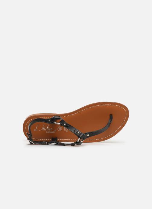 Sandali e scarpe aperte L'Atelier Tropézien SH652 Nero immagine sinistra