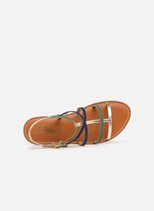 Sandales et nu-pieds L'Atelier Tropézien SB900 Multicolore vue gauche