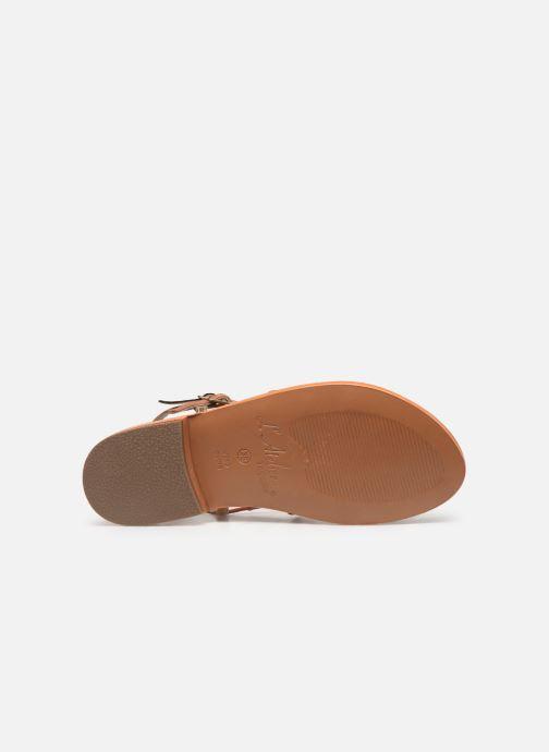 Sandales et nu-pieds L'Atelier Tropézien SB900 Or et bronze vue haut