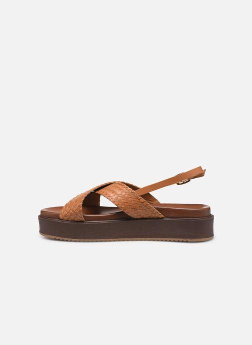 Sandals L'Atelier Tropézien CHV 19 269 AL Brown front view