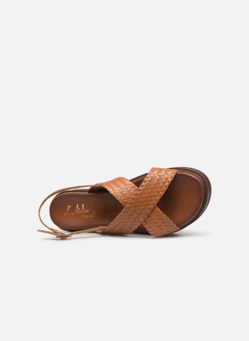 Sandales et nu-pieds L'Atelier Tropézien CHV 19 269 AL Marron vue gauche