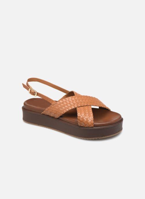Sandales et nu-pieds L'Atelier Tropézien CHV 19 269 AL Marron vue détail/paire