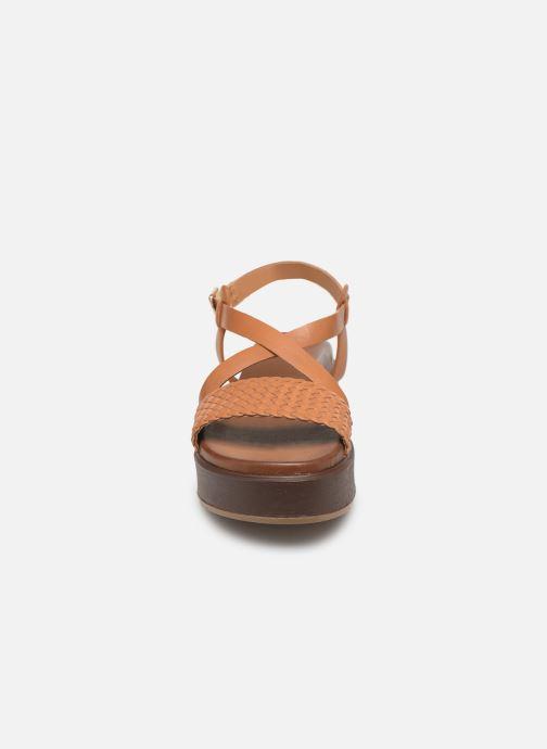 Sandales et nu-pieds L'Atelier Tropézien CHV  266 Marron vue portées chaussures