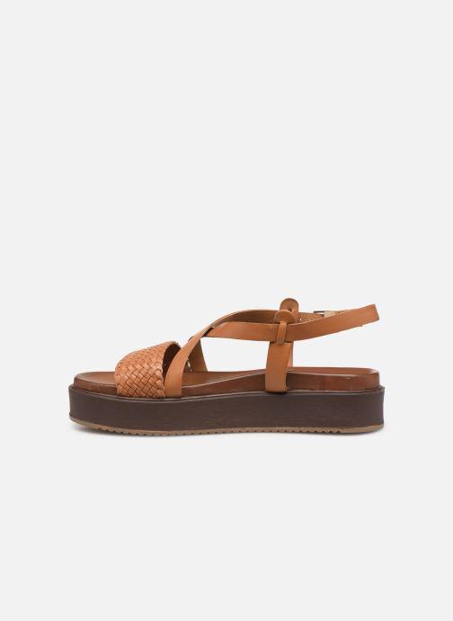 Sandals L'Atelier Tropézien CHV  266 Brown front view