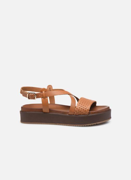 Sandals L'Atelier Tropézien CHV  266 Brown back view