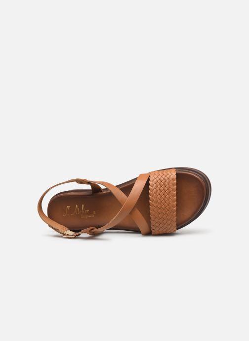 Sandales et nu-pieds L'Atelier Tropézien CHV  266 Marron vue gauche