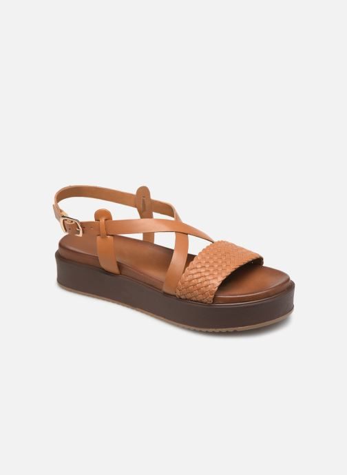 Sandales et nu-pieds L'Atelier Tropézien CHV  266 Marron vue détail/paire