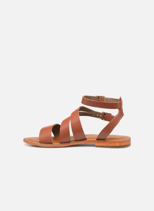 Sandals L'Atelier Tropézien SB917 Brown front view