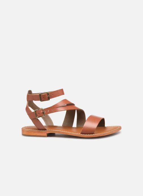 Sandals L'Atelier Tropézien SB917 Brown back view