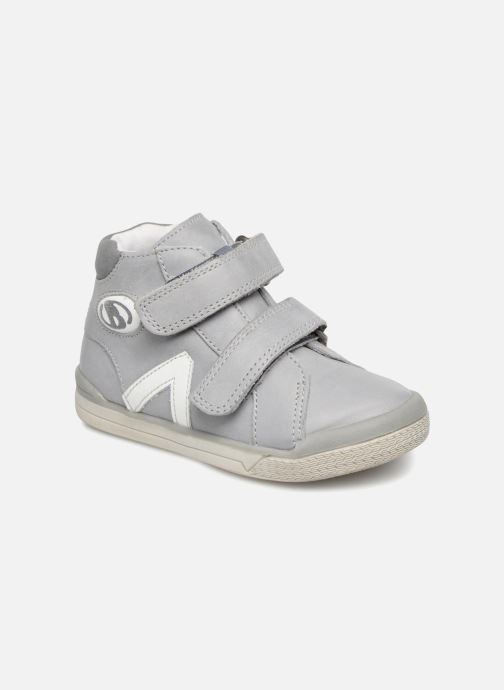 Ankle boots Babybotte B3Velcro Grey detailed view/ Pair view