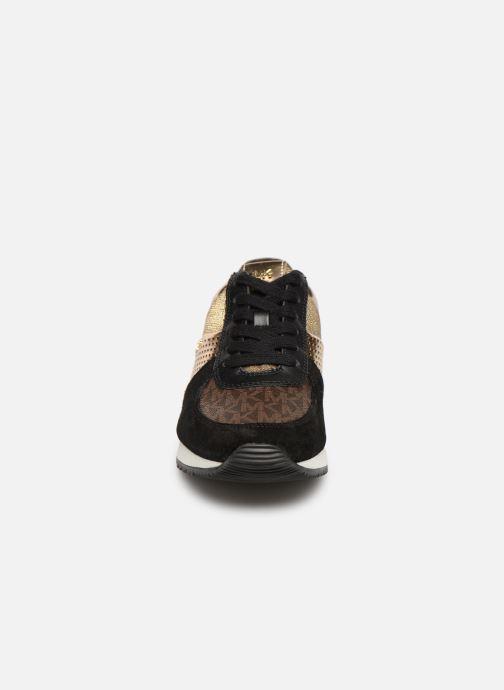Baskets Michael Michael Kors Allie WrapTrainer Or et bronze vue portées chaussures