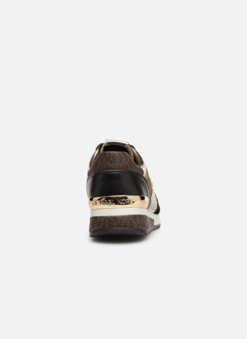 Baskets Michael Michael Kors Allie WrapTrainer Or et bronze vue droite