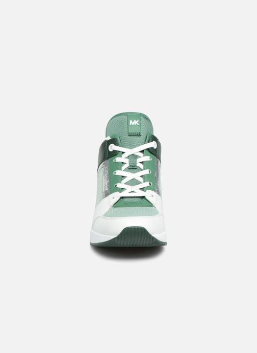 Baskets Michael Michael Kors Georgie Trainer Vert vue portées chaussures