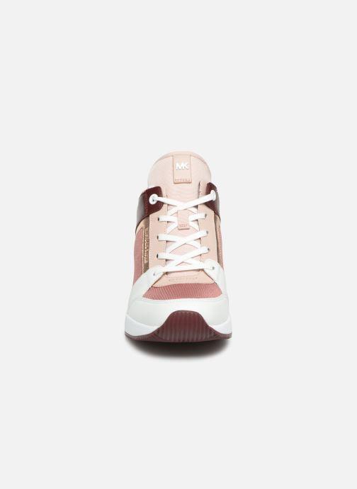 Baskets Michael Michael Kors Georgie Trainer Rose vue portées chaussures