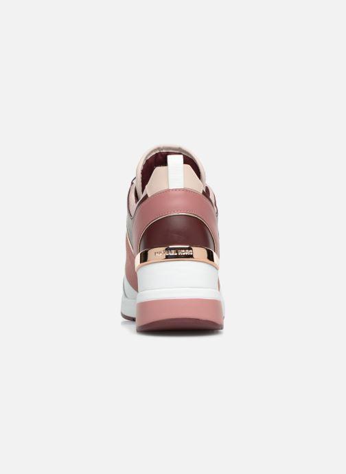 Sneaker Michael Michael Kors Georgie Trainer rosa ansicht von rechts