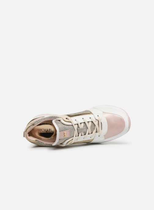 Baskets Michael Michael Kors Georgie Trainer Rose vue gauche