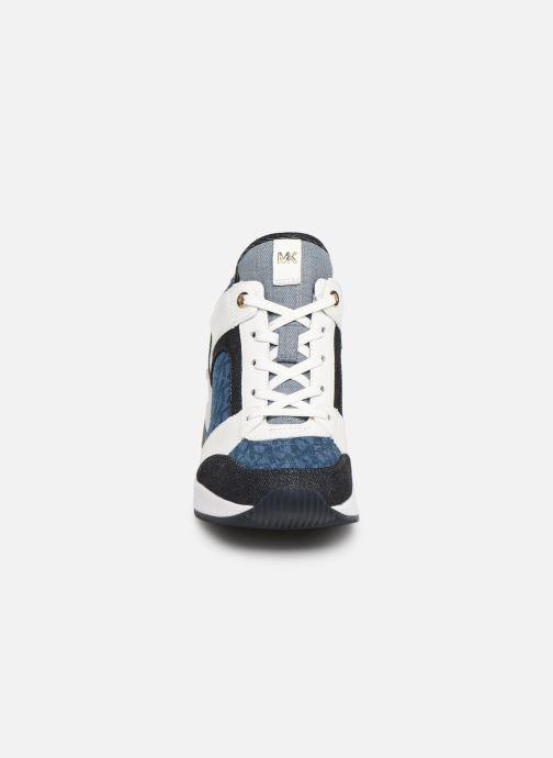 Baskets Michael Michael Kors Georgie Trainer Bleu vue portées chaussures