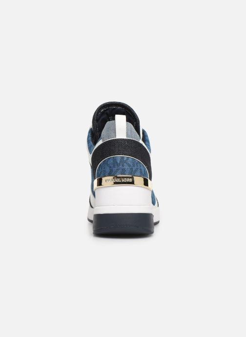 Sneaker Michael Michael Kors Georgie Trainer blau ansicht von rechts