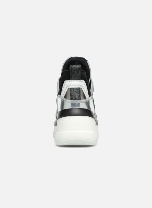 Sneaker Michael Michael Kors Olympia Trainer silber ansicht von rechts