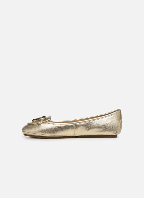 Bailarinas Michael Michael Kors Lillie Moc Oro y bronce vista de frente